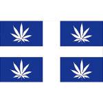 Drapeau Quebec pot