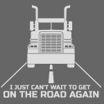 Trucker on the road