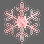 Grunge Christmas Snowflake