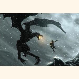 elderscrolls dragon fight- Meme Worthy Apparel