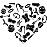 Bondage Toy Kink Heart  ©WhiteTigerLLC.com