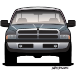 American Horns Pickup Truck