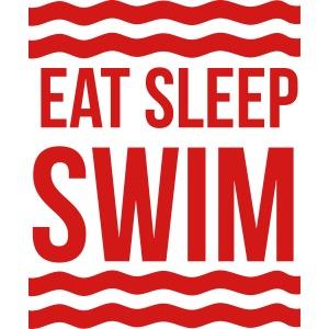 Eat Sleep Swim waves