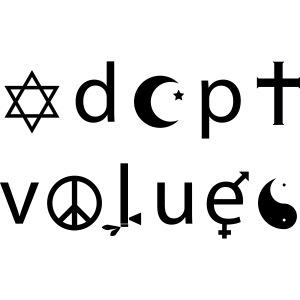 Adopt Values / Tolerance Parody / Coexist Parody