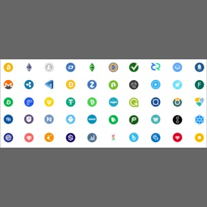 1 Crypto icons