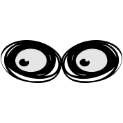 zombie eyes looking sideways