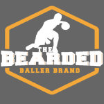 The Bearded Baller Brand White and Gold
