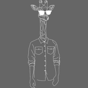 Hipster Giraffe White