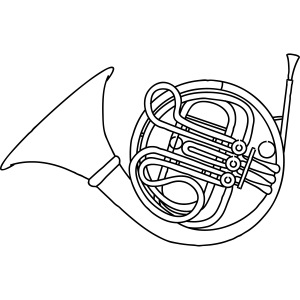 French horn brass