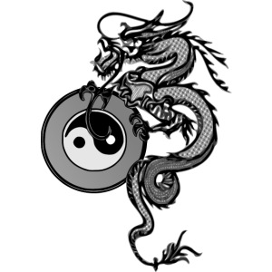 dragon with yin yang