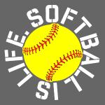 Softball is Life yellow