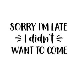 Sorry I m Late
