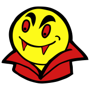 vampire face smiley
