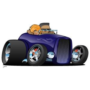 Highboy hot rod deep purple roadster