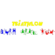 Swim Bike Run Triathlon People Font
