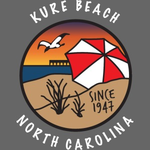 Kure Beach Sunrise-White Lettering-Front Only