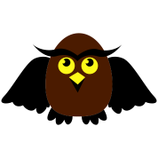 owl with wings cute