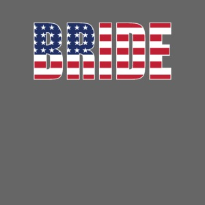 Bride Us Flag