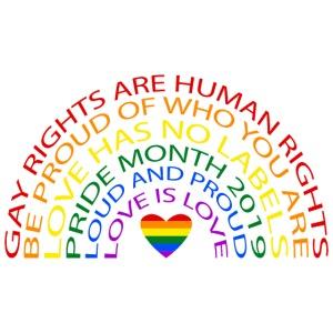Pride Rainbow Typography