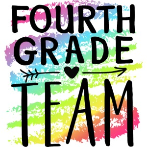 Fourth Grade Team Crayon Splash Teacher T-Shirts