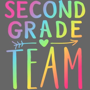 Second Grade Team Neon Rainbow Teacher T-Shirts