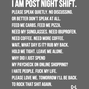 Night Shift Poem