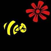 Bee Flower Love Blossom 3c