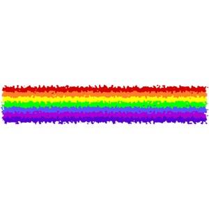 Rough Painted Rainbow Stripe Pride