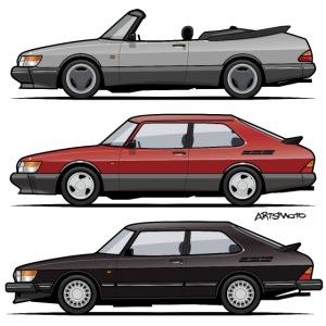 Saab 900 Turbo Trio