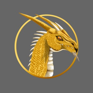 Gold Dragon Face Circle
