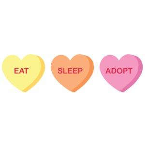 Eat Sleep Adopt-front
