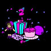 Its my 2nd Birthday-girl