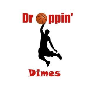 Basketball tshirt  Dropping Dimes  Dunk