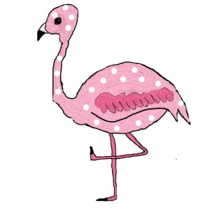 Polka Dotted Flamingo