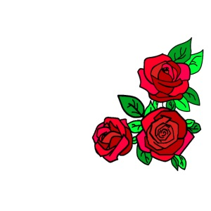 Simple Red Roses design
