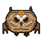 Angry Pixel Owl