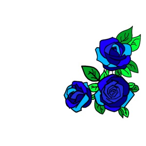 Simple blue Roses design