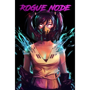 ROGUE NODE POSTER BLACK BACK