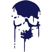 SKULL BLOOD SPLATTER METAL PUNK Vector