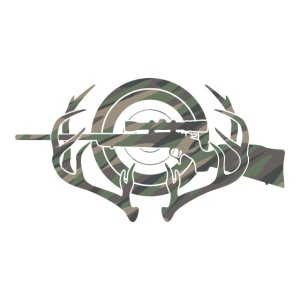 Camouflage Hunting and Shooting Sports Logo