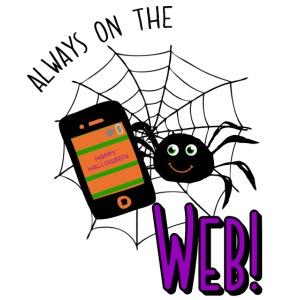 Halloween Spider Always On The Web Design