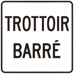 Trottoir Barré