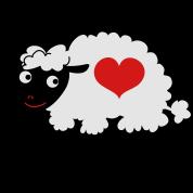 sheep with love heart