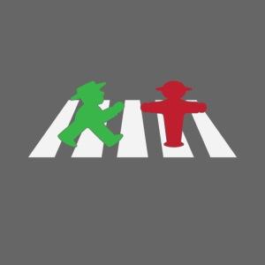 ampelmannchen on crosswalk