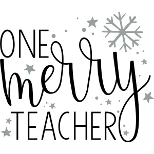 One Merry Teacher Christmas Teacher T-Shirt