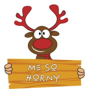 Red Christmas Horny Reindeer 9