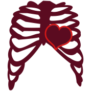 rib cage with love heart