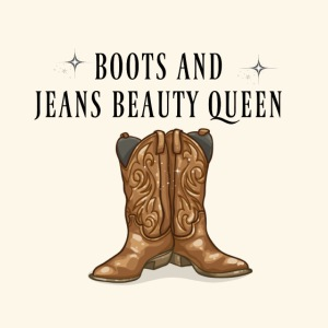 Boots And Jeans Beauty Queen Cow Girl Tee