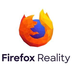 Firefox Reality - Transparent, Vertical, Dark Text