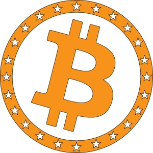 Bitcoin with star ring